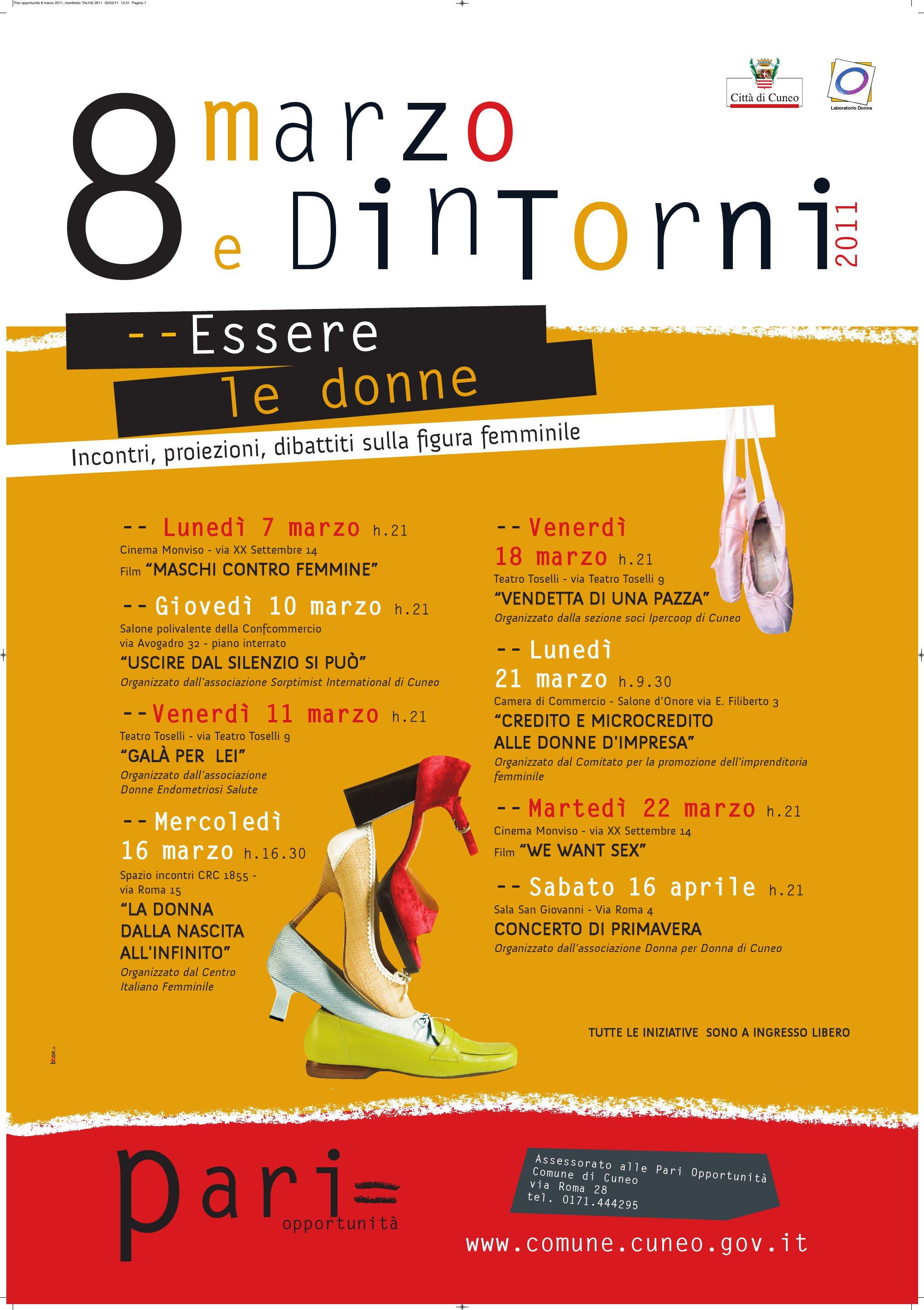Locandina con immagini di scarpe di donna e con l indicazione degli  incontri in programma 35d04bd3239